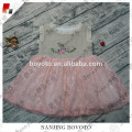 Hand embroidery pink easter dresses for toddlers