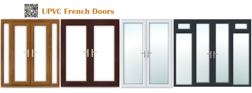Woodgrain uPVC French Doors
