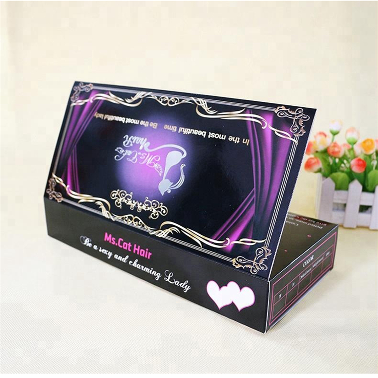 Empty Custom Paper Hair Bundle Packaging Box Supplier