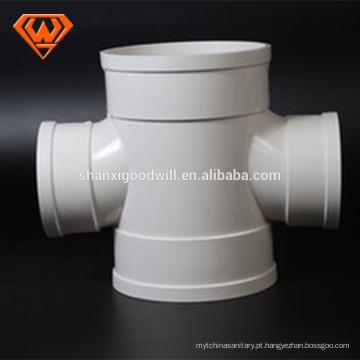Encaixe de tubulação cruzada de PVC