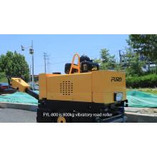 800 kg de peso a pé atrás do compactador de solo com rolo duplo de 635 mm de largura FYL-800