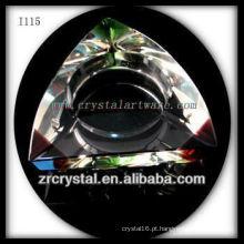 K9 Cinzeiro de Cristal Triangular com Cantos Coloridos