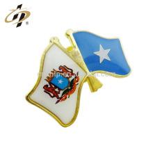 Conception personnalisée promotionnelle pas cher impression personnalisée époxy drapeau national badge badge