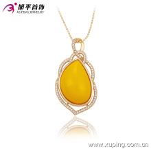 Mode luxe femmes or-plaqué pierre bijoux pendentif en alliage 32530