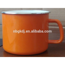 yuyao cheap price cast iron enamel mug with decal