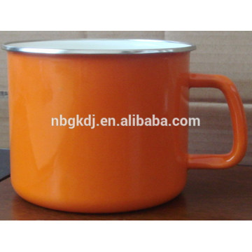 2015 best selling products white color steel enamel Mugs