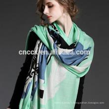 PK17ST118 Nouveau design de haute qualité en laine écharpe de cachemire numérique imprimé