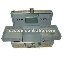 shining aluminum cosmetic box