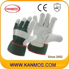 Зеленые промышленные перчатки из натуральной кожи из натуральной кожи (12004)