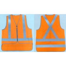 Orange Safety Vest with Zipper Meet En471