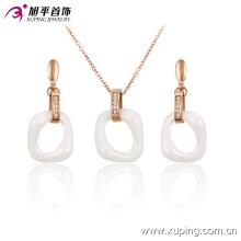 Xuping Fashion Gold-Plated aleación de aleación redonda de cerámica conjunto con Diamond 63750