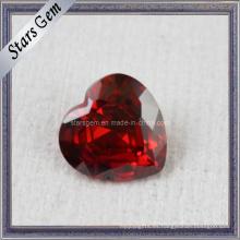 AA Brilliant Heart Forma Zircon Piedras preciosas