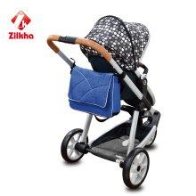 Baby-Spaziergänger mit Mama-Tasche
