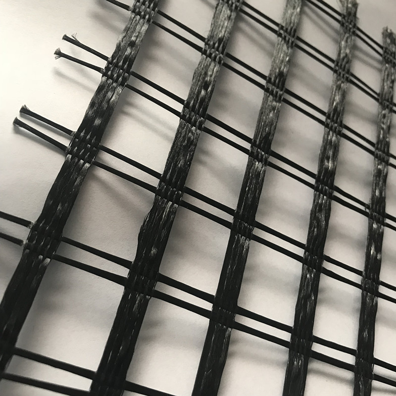 Polyester Warp Stickad Geogrid Uniaxial