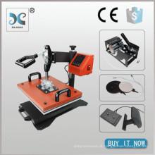 Máquina de impressão de transferência de calor HP6IN1 Best Price t shirt, prensa de calor combinada 6 em 1