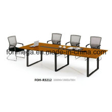 Table de conférence en mélamine de 10 personnes avec pied en métal (FOH-R3212)