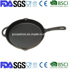 Healthy Nonstick Cast Iron Frypan / Skillet BSCI LFGB FDA Approved, with Handle