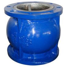 Чугунный бесшумный обратный клапан обеспечивает отсутствие водяного молотка