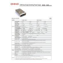 Omwo Wxe-120d-ein Dual-Output-Schaltnetzteil