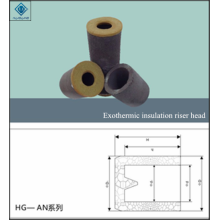 Exothermic insulating riser head
