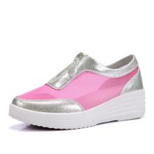 Chaussures pour femmes avec semelle intérieure haute Chaussures pour femmes avec fermeture éclair