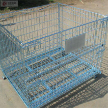 whole sale price foldable collapsible steel storage cage