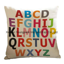 Home Decorative Custom Printed Cotton Seat Sofa Square Throw Cushion