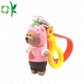 New Style Cartoon Bear Bag Holder Silicone Keychains