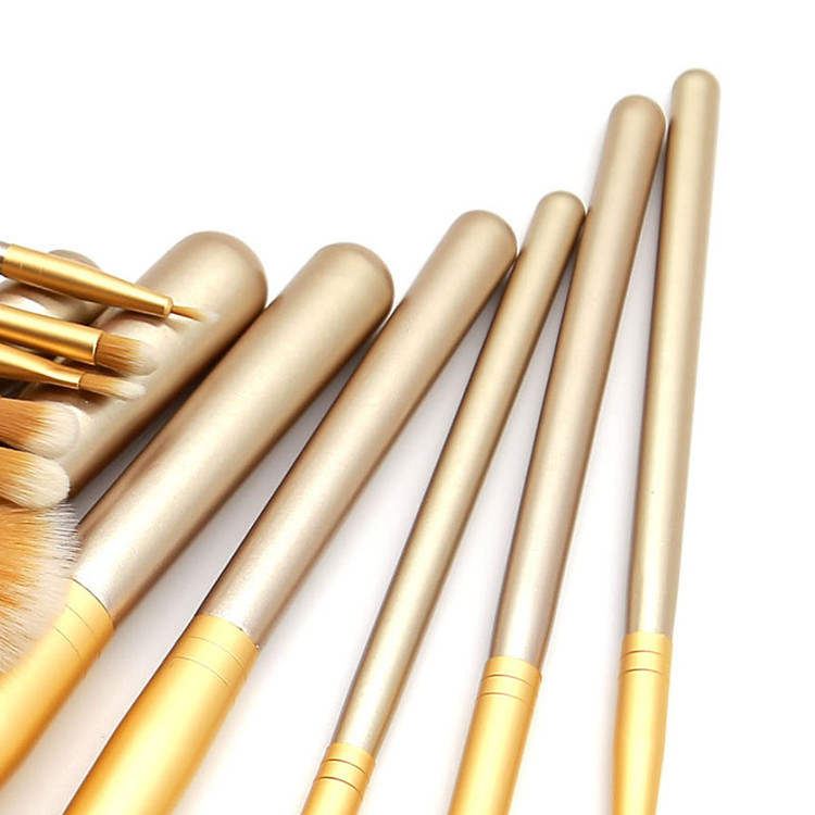 Champagner Gelbgold Beauty Makeup Pinsel Set