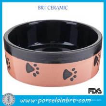 Pink Dog Foot Decal Pet Accesories Dog Bowl