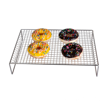 2021 factory direct sale 3-layer stainless steel baking rack bread fruit and vegetable wire baking rack