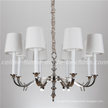 New Product Iron Chandelier Light with Fabric Shade (SL2100-8)