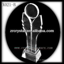 attractive design blank crystal trophy X021-B