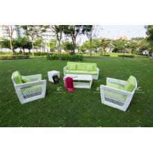 Sofá de mimbre de Rattan de mimbre para jardín al aire libre