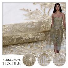 Nuevas fronteras bordadas químicas de moda profesionales del bordado de la tela de la India