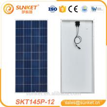 bom produto da energia solar do painel solar do preço 145w 150w 12v da boa venda mini