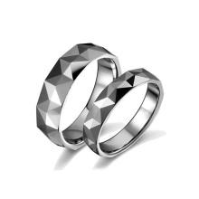 Beste Qualität Schmuck benutzerdefinierte Silber Wolfram Paar Ehering