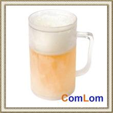 Taza de cerveza escarchada del hielo Taza plástica congelada