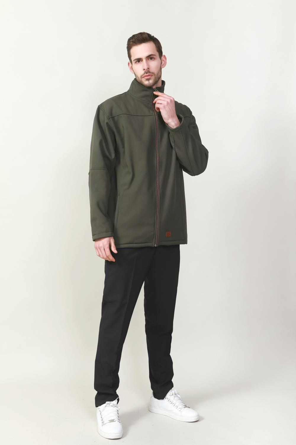FRONT FULL ZIP AND SLEEVE DETAILED ZIP IN CONTRAST COLOR