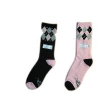 Calcetines de teñido de color de moda de las mujeres con algodón (lf-1)