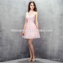 Mignon mini design rose couleur lacé licou robes de mariée robes de demoiselle d'honneur
