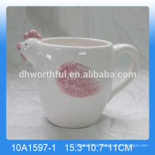 Alta calidad handpainting cerámica taza de gallo, taza de gallo