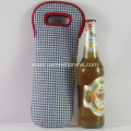 High Quality Durable Gingham Neoprene Wine Coolers