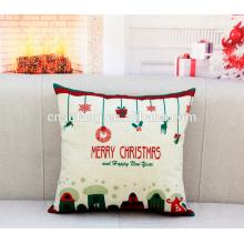 Le coussin brodé à la main de Joyeux Noël couvre bas moq dans des housses de coussin d'art