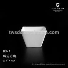 Lustige Verglasung flache Keramikschale B074