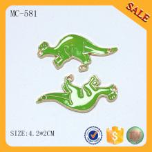 MC581 Animal shape custom logo printed metal tags