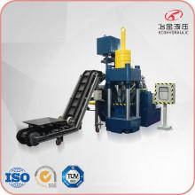Máquina vertical automática para fabricar briquetes de chips de metal