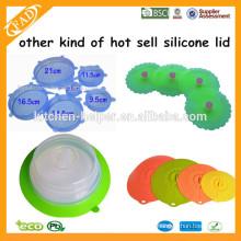 Plate topper Made in China fábrica de alimentos de grau placa de silicone tampa topper