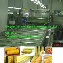 Volle automatische Gemüse-schnelle einfrierende Fertigungsstraße-Spirale Blanchieren