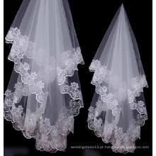 Ve0001 Véu de casamento longo e véu de casamento árabe do casamento